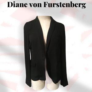 Diane von Furstenberg crepe blazer black
